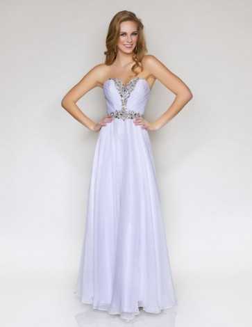 Hand Beaded Strapless Sweetheart Bodice Style 1002