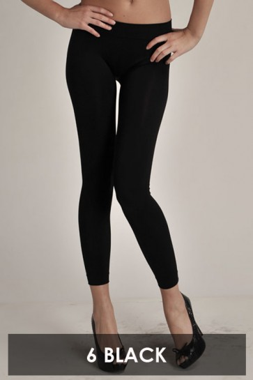Basic Ankle Leggings Black