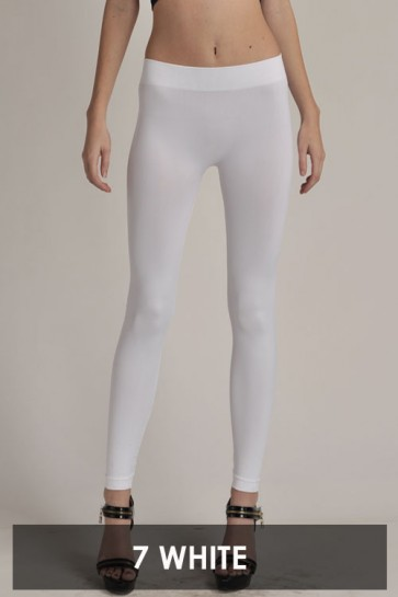 Basic Ankle Leggings White