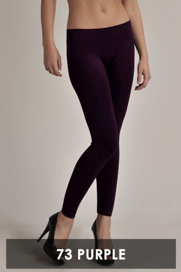 Basic Ankle Leggings Purple