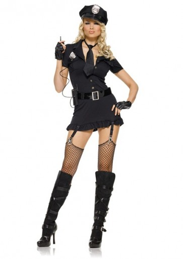 Leg Avenue 6PC Dirty Cop Set 83344