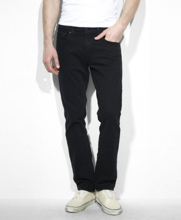 Levi 511 Black Stretch Skinny Jeans - Front