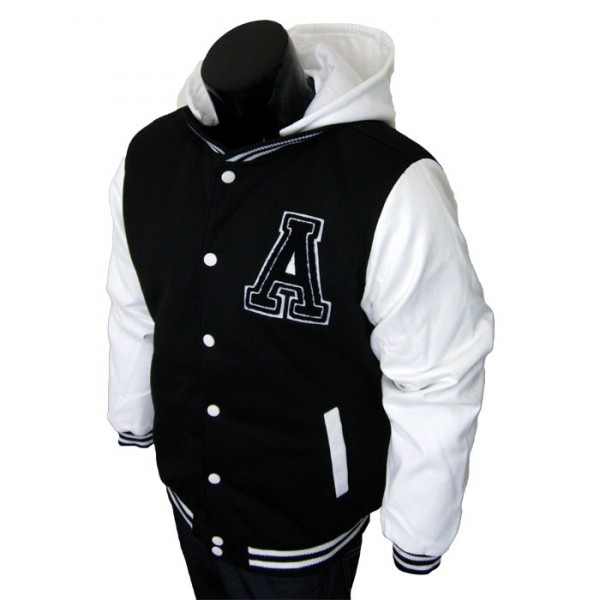 Varsity Jacket - Baseball Jacket - Letterman Jacket Men's Black ...