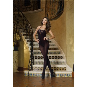DreamGirl Palermo Opaque Halter Bodystocking 0127 Style 127