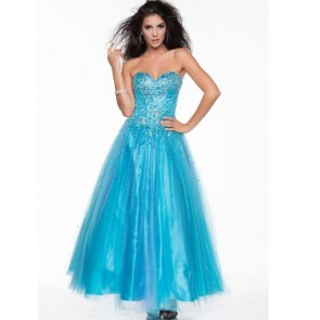 Hand Beaded Strapless Sweetheart Bodice Style 1003