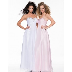 Hand Beaded Strapless Bodice Ruched Style 1009