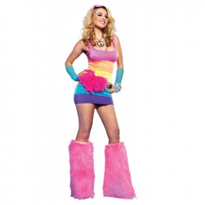 Leg Avenue  28119 RAINBOW MINI DRESS