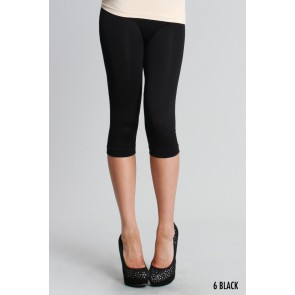 Basic Crop Black Leggings