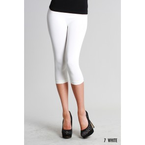 Basic Crop White Leggings