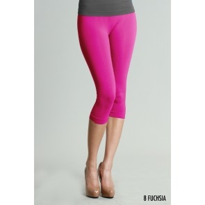 Basic Crop Fuchsia / Hot Pink Leggings
