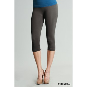 Basic Crop Charcoal Leggings