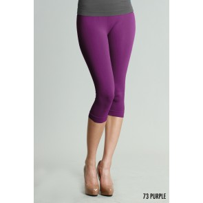 Basic Crop Purple Leggings