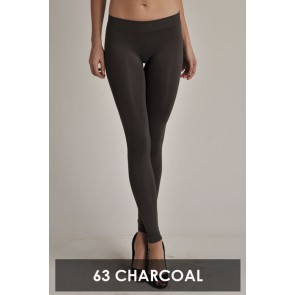 Basic Ankle Leggings Charcoal
