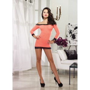 DreamGirl Encore Collection Mini Dress Tunic with Matching G-String 8084