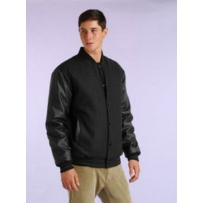Baseball Jacket - Pleather Sleeve