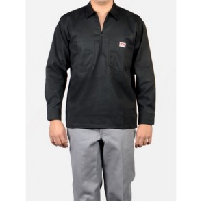 Ben Davis Long Sleeved Solid – Half Zipper - Black
