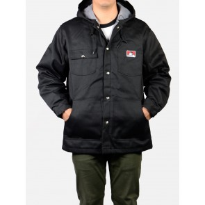 Ben Davis Hooded Jacket – Front Snap - Black