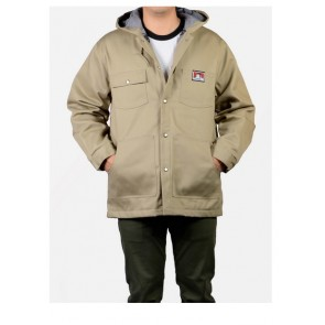 Ben Davis Khaki Hooded Jacket – Front Snap