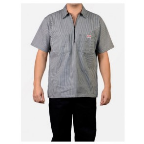 Ben Davis Short Sleeved Stripes – Half Zipper