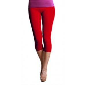 Basic Crop Red Leggings
