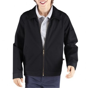 Dickies KJ903 Kids' Eisenhower Jacket - Rinsed Black