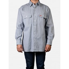 Ben Davis Long Sleeved Striped Button-Up - Hickory