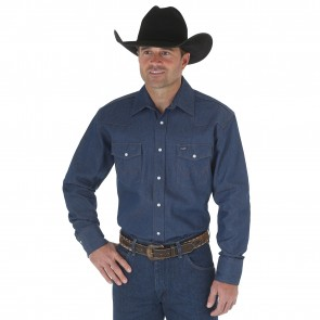 Wrangler MS7 Cowboy Cut Firm Finish Long Sleeve Work Western Shirt