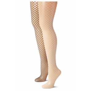 MUSIC LEGS Women's 2 Pack Diamond Net Pantyhose