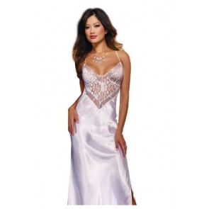 Dreamgirl Women's To Have and To Hold Full Length Gown and Thong