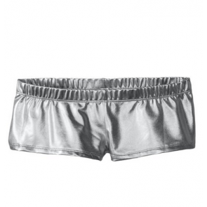 MUSIC LEGS Women's Metallic Mini Booty Shorts