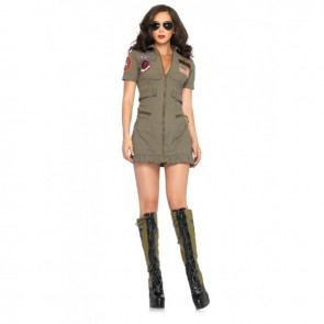 Leg Avenue TG83700 TOP GUN FLIGHT DRESS