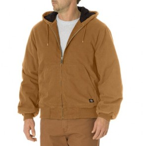 Dickies TJ270 Sanded Duck Insulated Hooded Jacket