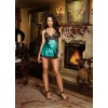 DreamGirl Emerald Cut Satin Charmeuse Babydoll Teddy 8460